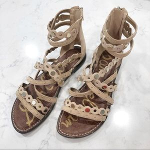 Sam Edelman Geren Gladiator Sandals Size 8.5